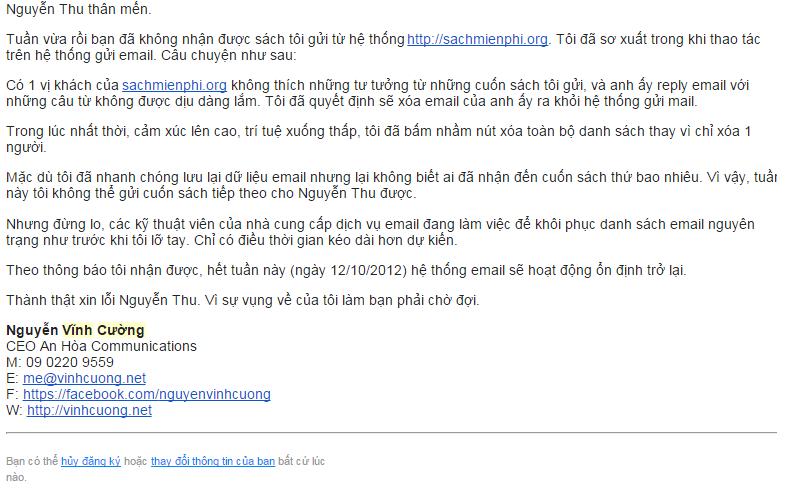 Lợi ích khi đặt link từ chối nhận thư trong Email Marketing
