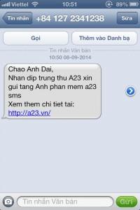 Tin nhắn sms đã được cá nhân hóa